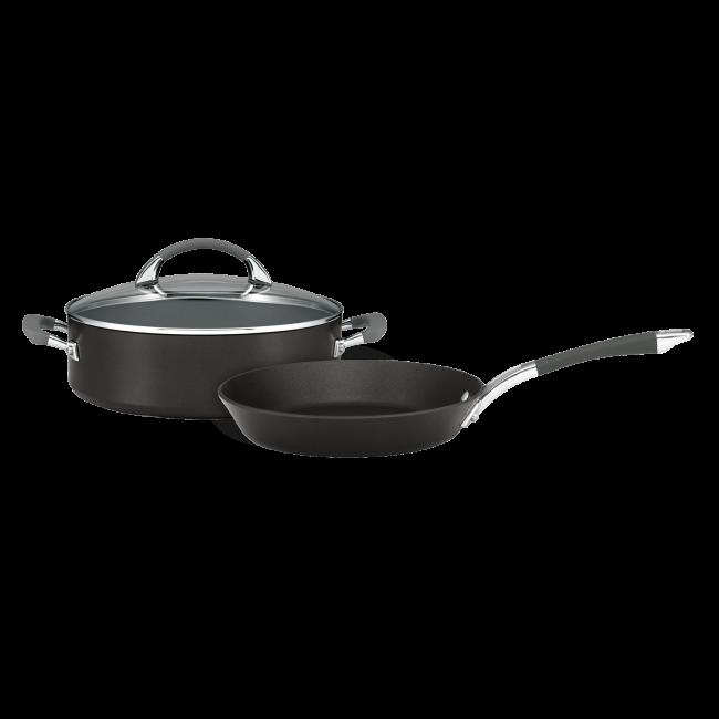 NEW Anolon Endurance Sauteuse Pan with Lid 28cm//4.7L